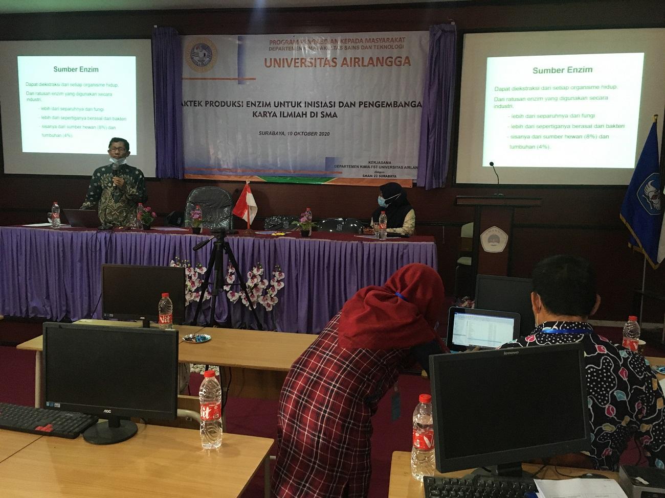 Pengabdian Kepada Masyarakat Departemen Kimia UNAIR ke SMA 22 Surabaya